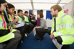 Olympic Park pylon event. Tessa Jowell MP talking to schoolchildren. Picture taken on 13 Nov 2008 by David Poultney.