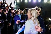 20190630/ Nicolas Celaya -adhocFOTOS/ URUGUAY/ MONTEVIDEO/ ELECCIONES INTERNAS 2019/ Hoy domingo 30 de junio de 2019 se celebran las elecciones internas de Uruguay. Es la primera etapa del proceso electoral donde son electos los candidatos únicos por partido para las elecciones presidenciales de octubre, y también la integración del Órgano Deliberativo Nacional y los distintos Órganos Deliberativos Departamentales de los diferentes partidos, que si no se alcanzan las mayorías establecidas deberán elegir el candidato a presidente y vicepresidente de cada partido, y los candidatos a intendentes para las elecciones departamentales y municipales de 2020. Las elecciones son obligatorias para los partidos políticos, pero de participación voluntaria para los ciudadanos habilitados a votar. <br /> en la foto: Luis Lacalle Pou  y Beatriz Argimón  tras el discurso de proclamación de la formula presidencial del Partido Nacional luego de las elecciones internas en la sede del partido Nacional en la Ciudad Vieja. Foto: Nicolás Celaya/adhocFOTOS