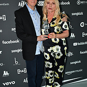 Debbie Harry and Ray Davies receive award at AIM Independent Music Awards at the Roundhouse on 3 September 2019, Camden Town, London, UK.