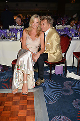ROD STEWART and PENNY LANCASTER at The Butterfly Ball in aid of Caudwell Children held at the Grosvenor House, Park Lane, London on 25th June 2015