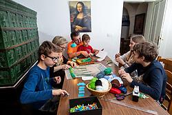 Family Obadic at handcraft, on February 7, 2021 in Skofja Loka, Slovenia.  Photo by Vid Ponikvar / Sportida