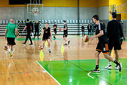 Jaka Blazic of Cedevita Olimpija at practice session of team KK Cedevita Olimpija on January 28, 2020 in Arena Stozice, Ljubljana, Slovenia. Photo By Grega Valancic / Sportida