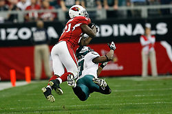 18 Jan 2009: Arizona Cardinals wide receiver Anquan Boldin #81 jumps to catch a pass with Philadelphia Eagles safety Quintin Mikell #27 defending during the NFC Championship game against the Philadelphia Eagles on January 18th, 2009. The Cardinals won 32-25 at University of Phoenix Stadium in Glendale, Arizona. (Photo by Brian Garfinkel)