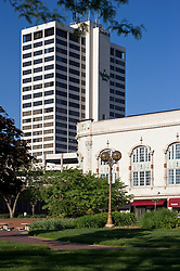 Morris Performing Arts Center and City Centre building in Downtown South Bend, Indiana...Photo by Matt Cashore..Use of this image prohibited without authorization and/or compensation..To contact Matt Cashore:.574.220.7288.574.233.6124.cashore1@michiana.org.www.mattcashore.com