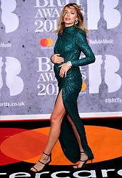 Abbey Clancy attending the Brit Awards 2019 at the O2 Arena, London.