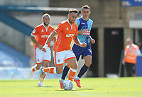 Blackpool's John O'Sullivan under pressure from Wycombe Wanderers' Matt Bloomfield<br /> <br /> Photographer Kevin Barnes/CameraSport<br /> <br /> The EFL Sky Bet League One - Wycombe Wanderers v Blackpool - Saturday 4th August 2018 - Adams Park - Wycombe<br /> <br /> World Copyright © 2018 CameraSport. All rights reserved. 43 Linden Ave. Countesthorpe. Leicester. England. LE8 5PG - Tel: +44 (0) 116 277 4147 - admin@camerasport.com - www.camerasport.com