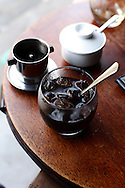 Iced coffee in a coffee shop of Hoi An, Vietnam, Southeast Asia