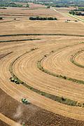 Aerial photograph of rural farmland in Fremont County, Iowa, USA.