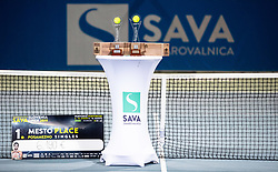 Trophy ceremony after the Final match at Day 10 of ATP Challenger Zavarovalnica Sava Slovenia Open 2019, on August 18, 2019 in Sports centre, Portoroz/Portorose, Slovenia. Photo by Vid Ponikvar / Sportida