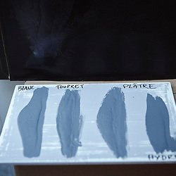 Paris, France. Atelier Midavaine. December 12, 2014. Texture trials for coating at the Atelier Midavaine. Photo: Antoine Doyen for The Wall Street Journal - GURU