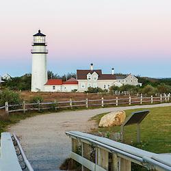Cape Cod Lighthouse, a.k.a. Highland Light, in the Cape Cod National Seashore. Truro Massachusetts.