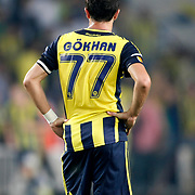 Fenerbahce's Gokhan Gonul during their UEFA Europa League Group Stage Group C soccer match Fenerbahce between Marseille at Sukru Saracaoglu stadium in Istanbul Turkey on Thursday 20 September 2012. Photo by TURKPIX