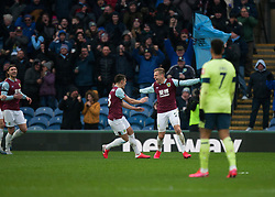 Matej Vydra of Burnley (C) celebrates after scoring his sides first goal - Mandatory by-line: Jack Phillips/JMP - 22/02/2020 - FOOTBALL - Turf Moor - Burnley, England - Burnley v Bournemouth - English Premier League