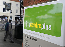 © Licensed to London News Pictures. 17/08/11. Eltham, UK. Job Centre Plus in  Eltham,South East London today (17/08/2011). The UK unemployment total rose unexpectedly in the three months to June, by 38,000 to 2.49m. The jobless rate also increased to 7.9%, the Office for National Statistics (ONS) has said. Photo credit : Grant Falvey/LNP
