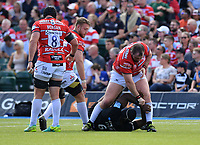 Rugby Union - 2018 / 2019 Gallagher Premiership - Play-Off Semi-Final: Saracens vs. Gloucester<br /> <br /> Gloucester's Fraser Balmain gets to grips with Saracens' Maro Itoje, at Allianz Park.<br /> <br /> COLORSPORT/ASHLEY WESTERN