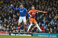 Portsmouth Forward, Oliver Hawkins (9) scores a goal with a header to make it 2-1 during the EFL Sky Bet League 1 match between Portsmouth and Northampton Town at Fratton Park, Portsmouth, England on 30 December 2017. Photo by Adam Rivers.