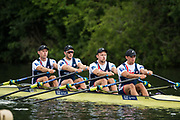 Henley-on-Thames. United Kingdom.  <br /> Leander Club, GBR M4X, Bow, Jack BEAUMONT, Jonny WALTON.John COLLINS and Pete LAMBERT, Lunch time outing.<br /> <br /> 2017 Henley Royal Regatta, Henley Reach, River Thames. <br /> <br /> 12:47:47  Saturday  01/07/2017   <br /> <br /> [Mandatory Credit. Peter SPURRIER/Intersport Images.