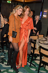 Left to right, NATASHA OAKLEY and MILLIE MACKINTOSH at a dinner hosted by Creme de la Mer to celebrate the launch of Genaissance de la Mer The Serum Essence held at Sexy Fish, Berkeley Square, London on 21st January 2016.