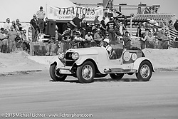 #M151003, Dave Lounsbury, 1918, Cadillac Automobiles, Hotrods Hot Rods Automobiles Cars, Antique Cars Automobiles, Sand Drags Racing Race of Gentlemen. Wildwood, NJ, USA. October 11, 2015.  Photography ©2015 Michael Lichter.