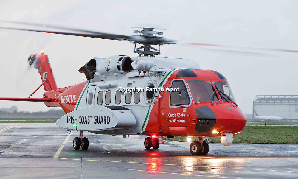 The new Coast Guard Sikorsky S-92 helicopter which arrived at Shannon airport today. Photograph by Eamon Ward (Pat Flynn has sent story)