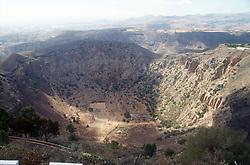 Caldera la Baldama volcano crater in Gran Canaria; Canary Islands; Spain,