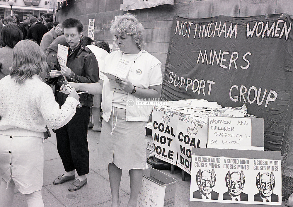 Nottingham Women Miners Support Group during the Miners Strike, UK May 1984