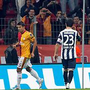 Galatasaray's Milan BAROS celebrate his goal during their Turkish Super League soccer match Galatasaray between Kasimpasaspor at the TT Arena at Seyrantepe in Istanbul Turkey on Monday 09 May 2011. Photo by TURKPIX