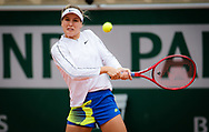Eugenie Bouchard of Canada in action against Iga Swiatek of Poland during the third round at the Roland Garros 2020, Grand Slam tennis tournament, on October 2, 2020 at Roland Garros stadium in Paris, France - Photo Rob Prange / Spain ProSportsImages / DPPI / ProSportsImages / DPPI