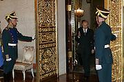 Moscow, Russia, 10/05/2005..Russia - European Union summit in the Kremlin with Russian President Vladimir Putin, Jean-Claude Juncker, Jose Barrosa and Xavier Solana.