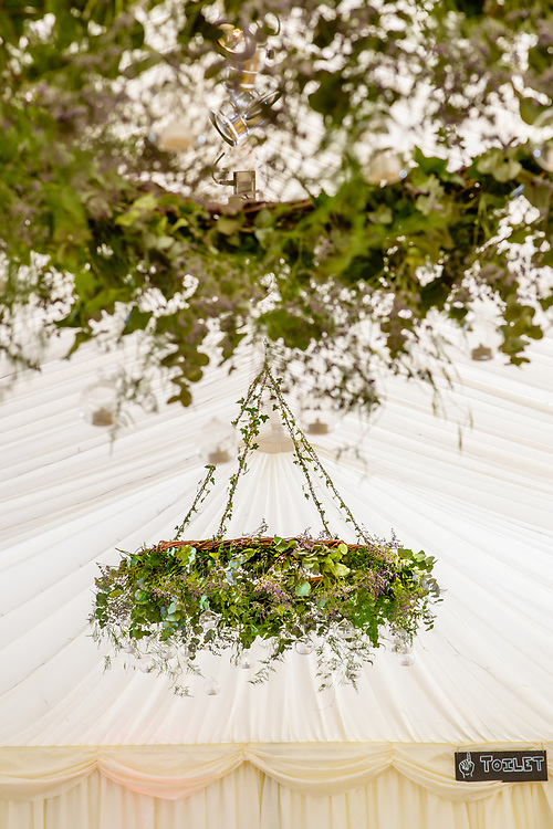 Lindsey Hunter and her team at 'Get Knotted' styling a wedding at  Broxmouth  Park, Dunbar 'Get Knotted'. <br /> <br /> The company, run by Lindsey Hunter from her base in the Scottish Borders, can design, style organise and provide all the props and items needed for a wedding.