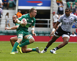 May 26, 2019 - London, England, United Kingdom - Adam Leavy of Ireland .during The HSBC World Rugby Sevens Series 2019 London 7s Cup Quarter Final Match 32 between Fiji and Ireland at Twickenham on 26 May 2019. (Credit Image: © Action Foto Sport/NurPhoto via ZUMA Press)