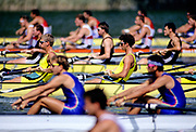 Barcelona Olympics 1992 - Lake Banyoles, SPAIN, Gold Medallist, AUS M4- [Oarsome Foursome] left Jamwes TOMKINS and   Nick GREEN, [Mandatory Credit; Peter SPURRIER; Intersportsport Images]