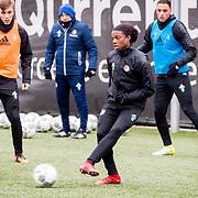 NLD/Rotterdam/20180301 - Training Feyenoord voor de bekerfinale, Dylan Vente, Tyrell Malacia