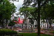 Place d' Armes, along Rue Saint Louis, Quebec, Canada.