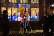 Andrey Bartenev and Sasha Frolova. ( pink) Andrey Bartenev ' Disco-Nexion' Riflemaker. Beak St. Soho. London. 7 January 2008. -DO NOT ARCHIVE-© Copyright Photograph by Dafydd Jones. 248 Clapham Rd. London SW9 0PZ. Tel 0207 820 0771. www.dafjones.com.
