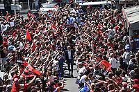 Arrivee au Stade Mayol Equipe Toulon et Trophee Champions Cup / Bernard Laporte  - 09.05.2015 - Toulon / Castres  - 24eme journee de Top 14 <br />Photo :  Alexandre Dimou / Icon Sport