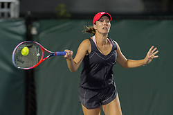 March 26, 2018 - Key Biscayne, FL, U.S. - KEY BISCAYNE, FL - MARCH 26: Danielle Collins (USA) in action at the 2018 Miami Open on March 24, 2018 at the Tennis Center at Crandon Park in Key Biscayne, FL. (Photo by Andrew Patron/Icon Sportswire) (Credit Image: © Andrew Patron/Icon SMI via ZUMA Press)