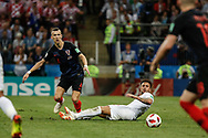 Ivan Perisic of Croatia and Kyle Walker of England during the 2018 FIFA World Cup Russia, semi-final football match between Croatia and England on July 11, 2018 at Luzhniki Stadium in Moscow, Russia - Photo Thiago Bernardes / FramePhoto / ProSportsImages / DPPI