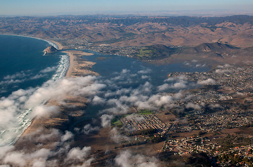 Aerial view of Morro Bay looking north/northeast.