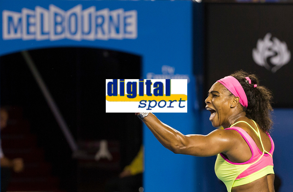 Serena Williams of the USA in action during the final of the Australian Open 2015 Grand Slam, Tennis match day 13, on January 31, 2015 in Melbourne, Australia. Photo Mike Frey / Backpage Images / DPPI