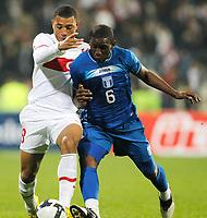 Fotball<br /> Tyrkia v Honduras<br /> 03.03.2010<br /> Foto: Gepa/Digitalsport<br /> NORWAY ONLY<br /> <br /> Bild zeigt Kazim Kazim (TUR) und Hendry Thomas (HON).