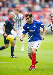 Cowdenbeath's Mohammed Yakud. <br /> Dunfermline 5 v 1 Cowdenbeath, Scottish League Cup game played today at East End Park.