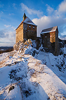 Burg Hohenstein Castle in winter, Hohenstein, Franconia, Germany
