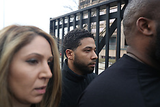 Jussie Smollett and family leaves the courthouse - 21 Feb 2019