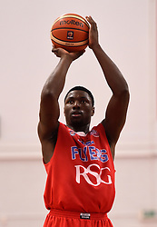Daniel Edozie of Bristol Flyers - Photo mandatory by-line: Paul Knight/JMP - Mobile: 07966 386802 - 30/01/2016 - BASKETBALL - SGS Wise Arena - Bristol, England - Bristol Flyers v Leeds Force - British Basketball League