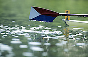 Hazewinkel. BELGIUM, USA Sweep Blade, hovering over the water, 1997 FISA Junior World Rowing Championships. Course, Bloso Rowing Centre, Heindonk, Willebroek, Mechelen, Belgium.<br /> <br /> <br /> [Mandatory Credit; Peter Spurrier/Intersport-images] 1997 Junior World Rowing Championships, Hazewink