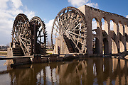 Norias of Hama (a kind of water wheel) on the Orontes River, Syria