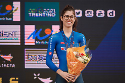 Third place for Carlotta Cipressi (ITA) at the 2020 UEC Road European Championships - Junior Women ITT, a 25.6 km individual time trial in Plouay, France on August 24, 2020. Photo by Sean Robinson/velofocus.com