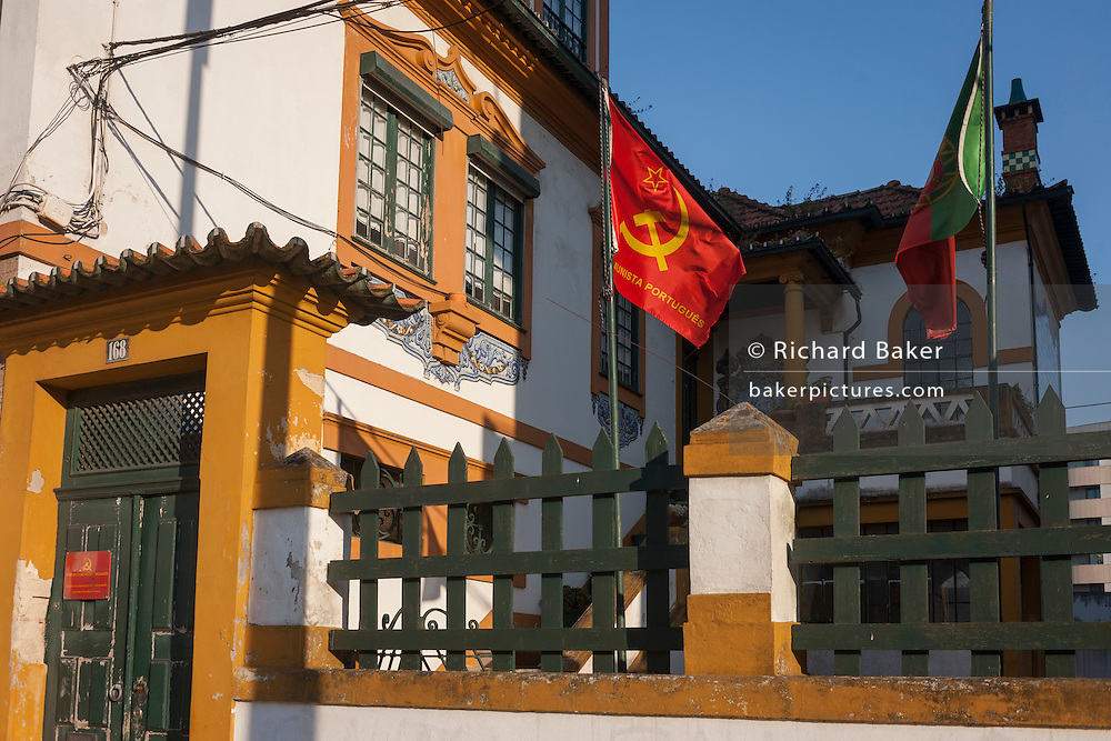 The Communist party's regional offices on Avenida Dr. Lourenco Peixnho, in Aveiro, Portugal.