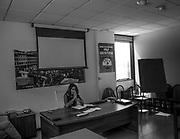 Una riunione nella sede della Lega a Firenze